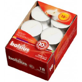 Witte 10 uur maxi waxinelichten 24/58 Bolsius