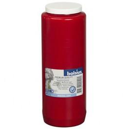 Godslampolie transparant rode kaars, 9 dagen brander 180 mm hoog en diameter 65 mm
