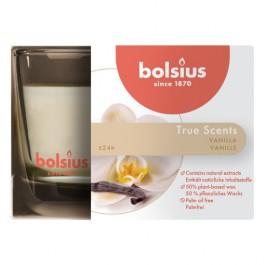 Bolsius geurglas vanille - vanilla geurkaarsen 63/90