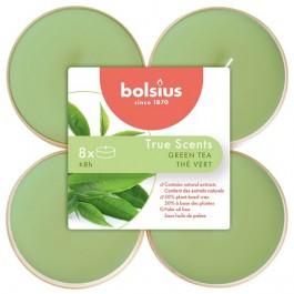 Bolsius groene thee - green tea maxi geurtheelichtjes 8 stuks