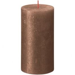 Bolsius metalliek bruin koper gelakte rustieke stompkaarsen 130/68 (60 uur) Shimmer Metallic Copper