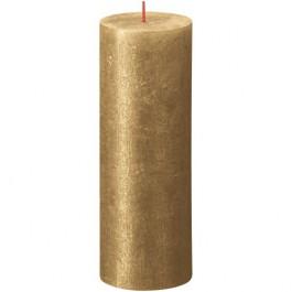 Bolsius metalliek goud gelakte rustieke stompkaarsen 190/68 (85 uur) Shimmer Metallic Gold