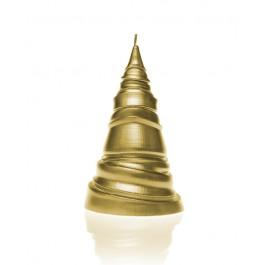 Prachtig geel goud gelakte kerstboom modern figuurkaars