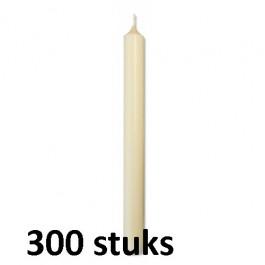 Horeca diner tafelkaarsen ivoor 250/23 300 stuks