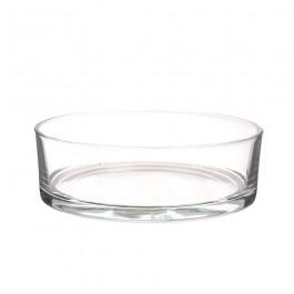 Dik glazen schaal voor drijfkaarsen en drijflichten. Diameter 25 cm x Hoogte 8 cm