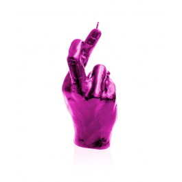 Prachtig roze hoog glans gelakte Hand CRS figuurkaars