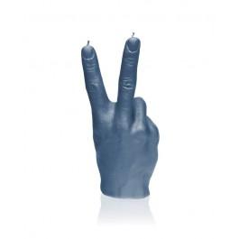Prachtig jeans kleur gelakte Hand Peace figuurkaars
