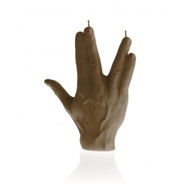 Prachtig bruin gelakte Hand SPCK figuurkaars