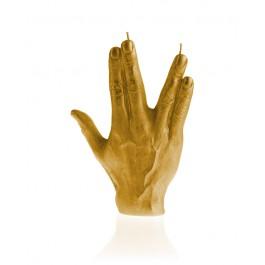 Prachtig goud gelakte Hand SPCK figuurkaars