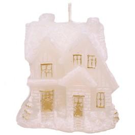 Witte en Gouden Huis Figuurkaars 105/100/80