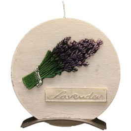 Witte Lavendel Provence Ronde Schijfkaars (5uur)