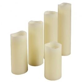 Ledkaarsen set van 5 stuks ivoorkleurig