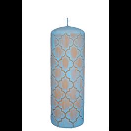 Lichtblauwe Marokko stompkaars 200/70