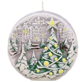 Grijze Kerst Winterlandschap Rustieke Geurkaars 115/40