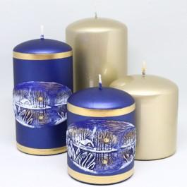Deluxe set Winter Vijver kaarsen