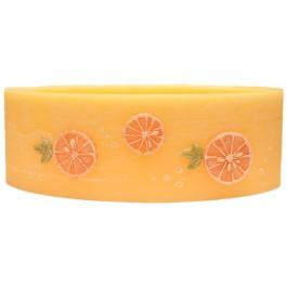 Sinaasappel geurende ovale wax windlicht 95/125/270 (incl. 2 stuks 3 uurs theelichten)