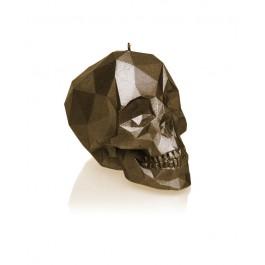 Luxe interieur figuur kaars in de vorm van klein schedel poly
