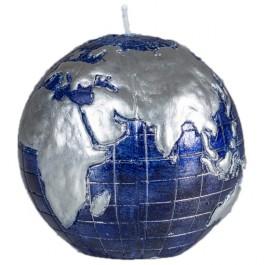 Blauw wereldbol - globe balkaars 90/100 (50 uur)