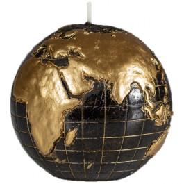 Zwart wereldbol - globe balkaars 90/100 (50 uur)