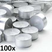 100 stuks witte 6 uur waxinelichtjes van uitstekende kwaliteit 18/38