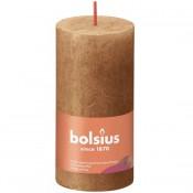 Bolsius bruin rustiek stompkaarsen 100/50 (30 uur) Eco Shine Spice Brown
