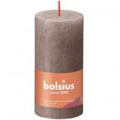 Bolsius taupe rustiek stompkaarsen 100/50 (30 uur) Eco Shine Rustic Taupe