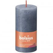Bolsius donkerblauw rustiek stompkaarsen 100/50 (30 uur) Eco Shine Twilight Blue