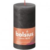 Bolsius antraciet rustiek stompkaarsen 130/68 (60 uur) Eco Shine Stormy Grey