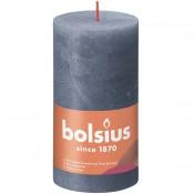 Bolsius donkerblauw rustiek stompkaarsen 130/68 (60 uur) Eco Shine Twilight Blue