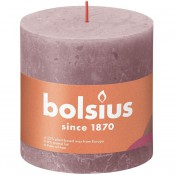Bolsius oud roze rustiek stompkaarsen 100/100 (62 uur) Eco Shine Ash Rose