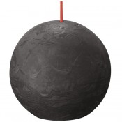 Bolsius antraciet rustiek bolkaars Ø 76 mm (25 uur) Eco Shine Stormy Grey