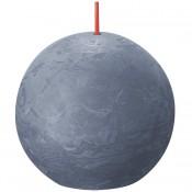 Bolsius donkerblauw rustiek bolkaars Ø 76 mm (25 uur) Eco Shine Twilight Blue