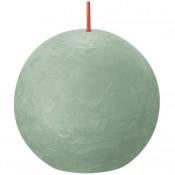 Bolsius sage groen rustiek bolkaars Ø 76 mm (25 uur) Eco Shine Sage Green