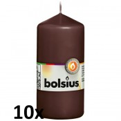 10 stuks witte stompkaarsen 120/60 van Bolsius extra goedkoop in een voordeel verpakking