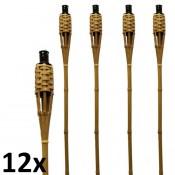 12 stuks bruine bamboe fakkels lengte 120 cm