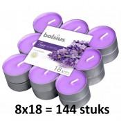 144 stuks Bolsius french lavender geurtheelichtjes