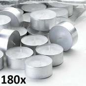180 stuks witte 10 uur maxi waxinelichten van uitstekende kwaliteit 24/58