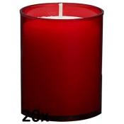 20 stuks Bolsius relight kaars in rood kunststof kaarsenhouder, voordeel verpakking