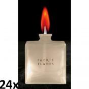 24 stuks rood gekleurde vlam olielampen met gematteerd glas, als voordeel verpakking
