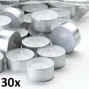 30 stuks witte 10 uur maxi waxinelichten van uitstekende kwaliteit 24/58