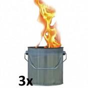 Drie vuurblik fakkels 170/155 als voordeel verpakking