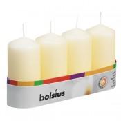 Bolsius ivoor stompkaarsen 100/50 tray/set van 4 stuks