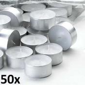 50 stuks witte 8 uur waxinelichtjes van uitstekende kwaliteit 24/38