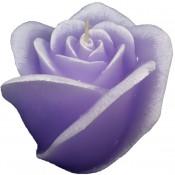 Violet roos figuurkaars met lavendel geur