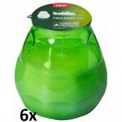 6 stuks lime twilights lowboys van Bolsius in voordeel verpakking