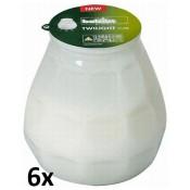 6 stuks melk wit twilights lowboys van Bolsius in voordeel verpakking