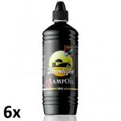 6 stuks liter flessen Farmlight lampen- en tuinfakkel olie als voordeelverpakking