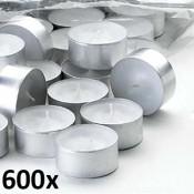 600 stuks witte 6 uur waxinelichten van uitstekende kwaliteit 18/38