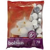 70 stuks witte 6 uur waxinelichtjes 21/38 Bolsius