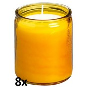 8 stuks amber transparante star lights van Bolsius in voordeel verpakking
